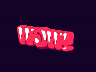 Wow cell shading typography 3d c4d