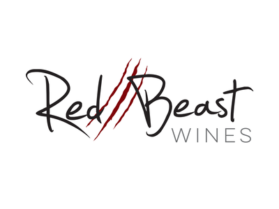 Red Beast Wines logo branding alcohol wine logo