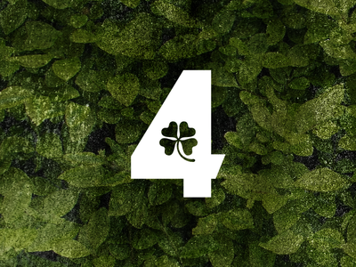 4 - 36 Days of Type clover 4 four typography logomark number 36 days of type