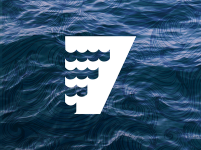 7 - 36 Days of Type ocean seas 7 typography number logomark 36 days of type