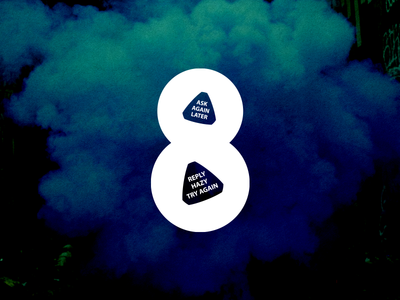 8 - 36 Days of Type magic eight ball 8 typography number logomark 36 days of type