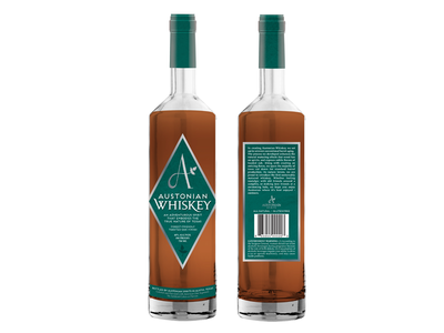 Austonian Whiskey Labels label branding alcohol bottle