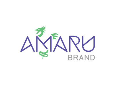 Amaru Brand Logo custom type mythology clothing apparel branding logo