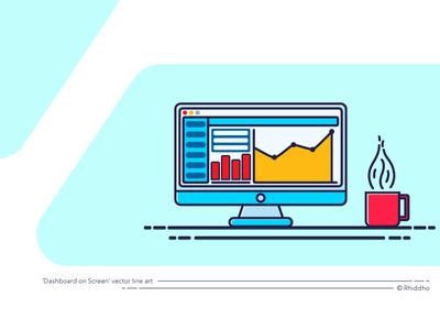 Website Dashboard On Screen