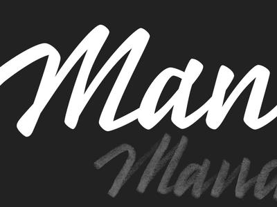 Lettering based logo for start-up