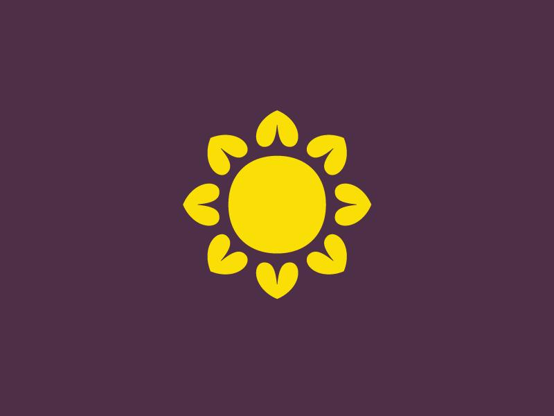 Sunflowerheart Symbol By Rodrigo Saiani Dribbble