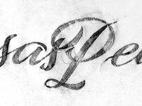 Casas pedro lettering sketch