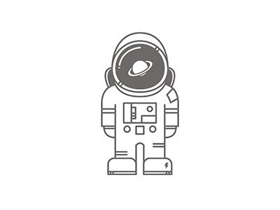 Mr Astronaut creative icon galaxy illustration vector design flat astronaut spaceman vectorillustration