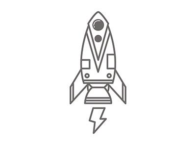 Space rocket illustrate vectoriel flat icon graphic design creative illustration vector galaxy rocket space
