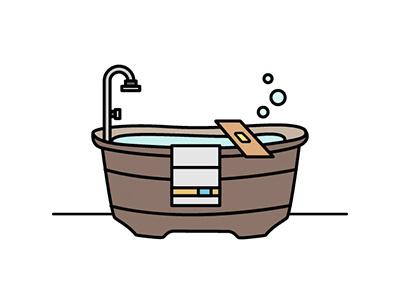 Bathtub toilet bathroom illustration vector bathtub icon flat