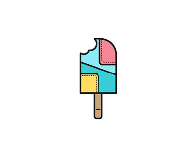 Colourful ice cream icecream illustration vector icon dessert flat