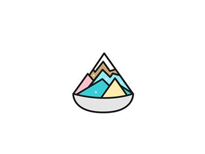 Colourful Ice kachang flat illustration vector icon dessert icekachang