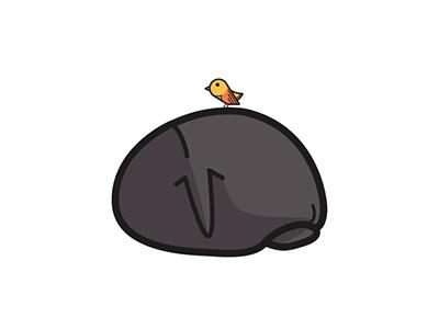 Just chill animal chill bird illustration vector hippo
