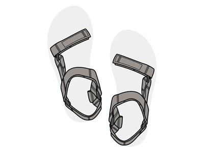 Summer sandals vector illustration teva 2015 nye sandals summer