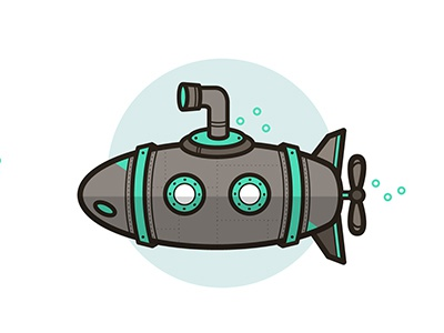 The ocean is six miles deep ocean sea illustration vector submarine