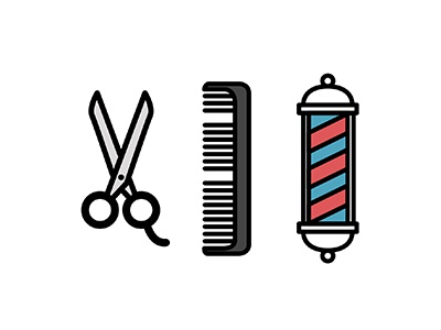 Cut hair icon illustration vector tools barber