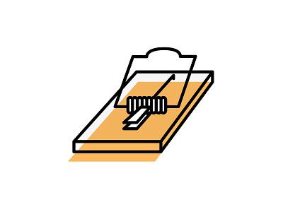 Mousetrap illustration vector trap mousetrap