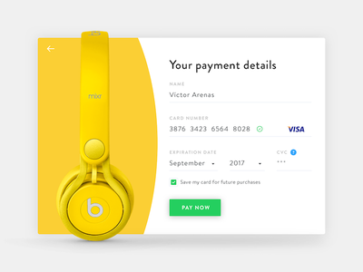 Daily UI 002 - Credit Card shopping ecommerce flat design interface form visa payment card checkout ui