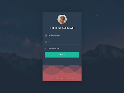Daily UI 001 - Login app mobile interface design dark form signin signup login ui