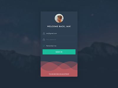 Daily UI 001 - Login app mobile interface design dark form signin signup login ui