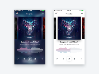 Daily UI 009 - Music Player dark light minimal song sound gradient player spotify app music design ui