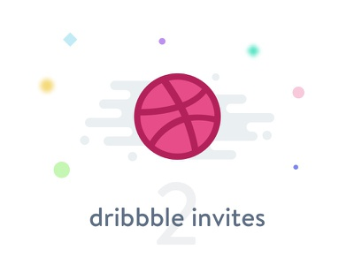 2x Dribbble invites draft icon dribbble giveaway gift invitation invite