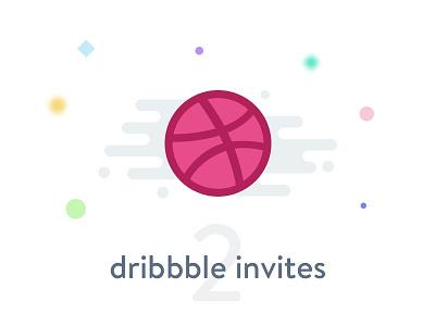 2x Dribbble invites draft icon dribbble giveaway gift invitation invite