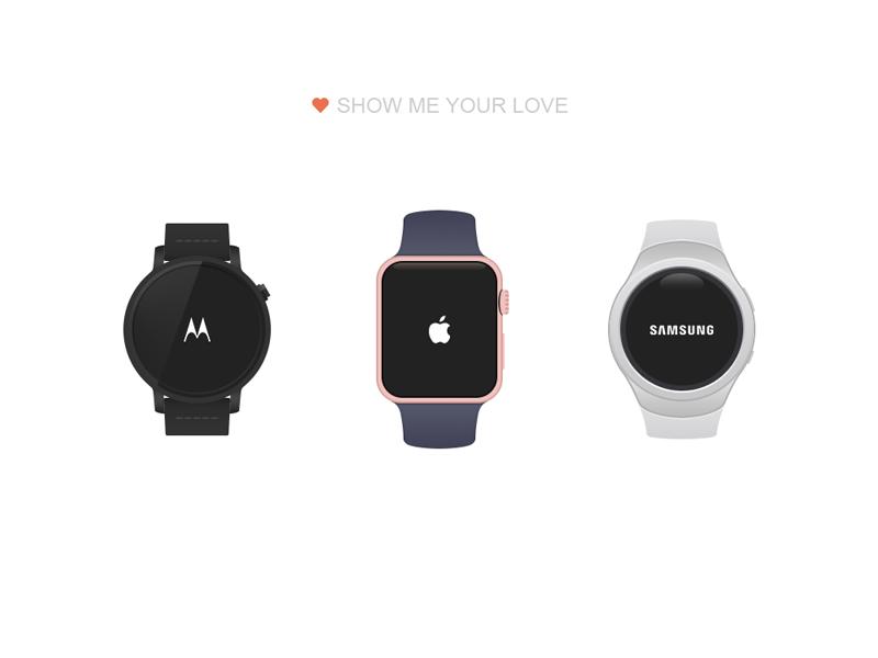 Smart watch psd samsung gear apple watch moto 360 smart watch
