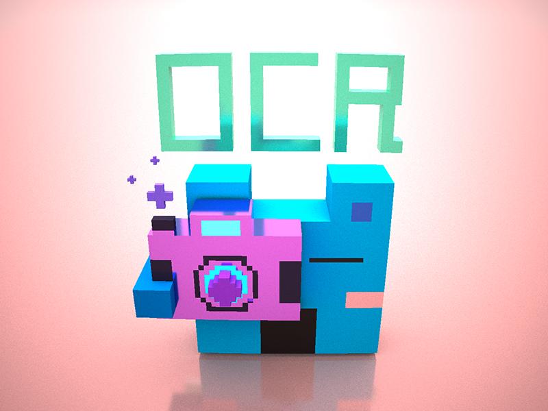 Ocr gold-rose,magicavoxel ocr