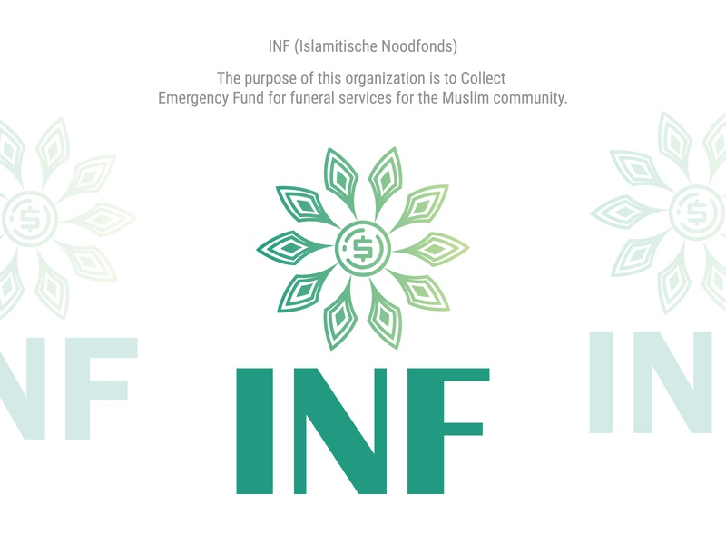 INF (Islamitische Noodfonds) Logo funeral coronavirus islamic design islamicart nonprofit corporate logo illustraion icon branding logo design