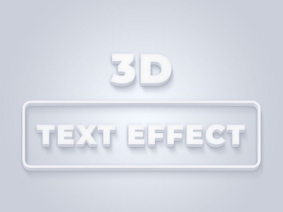 3D Text Effect Photoshop Action social media banner banner photoshop text effect action photoshop action 3d text effect