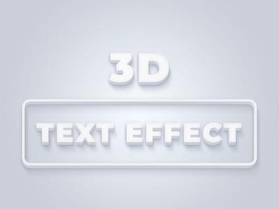 3D Text Effect Photoshop Action social media banner banner photoshop text effect action photoshop action 3d text effect