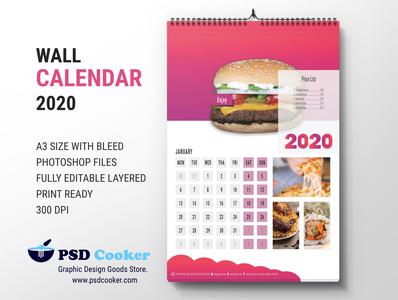 Restaurent Calendar 2020 print usa calendar unique modern clean restaurant wall calendar desk calendar 2020 restaurant calendar 2020 calendar