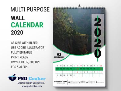 MULTIPURPOSE CALENDAR 2020 a3 calendar new year calendar best calendar graphic design printing design modern clean wall calendar desk calendar 2020 calendar2020 multipurpose calendar calendar