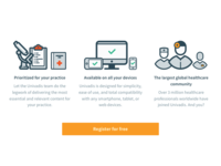 Healthcare illustrations for landing page