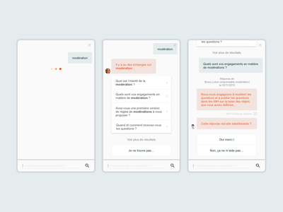 Bot Open Dialog — Concept civitech prototype chat bot chatbot ux design ux product design ui design ui design conversation concept product open dialog dialog widget plugin messaging messenger bot