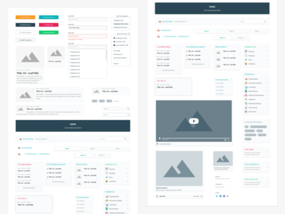 New Univadis design system - Components library ux design template product design product ui design components behance ux ui design system design system web platform medical healthcare atomic design