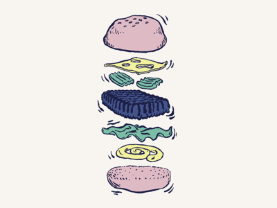 Burger 🍔 fastfood cook drawing illustration foodporn food burger