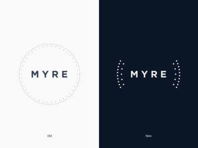 MYRE new logo frenchtech real estate typography graphisme graphic design evolution update logotype logo