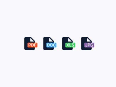 File format icons extension format adobe excel word pdf jpg xls doc document file icon