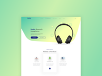 Studio Headphone Product Landing Page