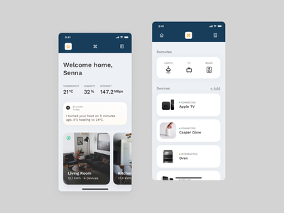 📱 Smart Home - Mobile assistant digital assistant minimal mobile artificial intelligence ai utilities tv app tv remote smarthouse smarthome
