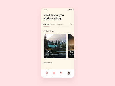 Beer App – Product Explorations subscription ui ecommerce shop ecommerce shopping grocery brewery serif mobile parallax easing motion interaction minimal app beer app principle