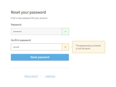 Login / Forgot Password Flow forgot password sign in log in olery ux ui flow login