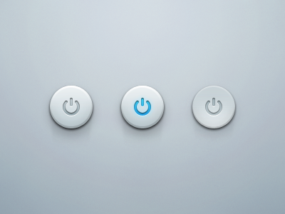 Round Power Button power ui buttons button switch