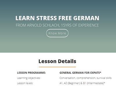 A Page for a German Teacher deutsch german css html