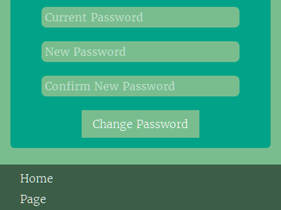 Change Password Form html