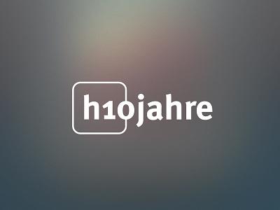 Ten years h1com – Anniversary Logo german bold icon flat years 10 design logo anniversary