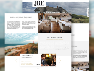 JRE Webdesign Relaunch #01 web cooking chef restaurant slider ui ux interface webdesign