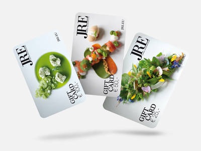 Culinary Gift Card Mockup print shadow 3d present coupon card gift restaurant cooking culinary